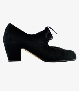 trainning flamenco shoes semiprofessional - - TAMARA High Semiprofessional - Suede Lace Cuban heel