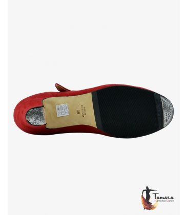 trainning flamenco shoes semiprofessional - - High Semiprofessional Suede - Strap TAMARA