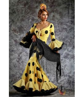 woman flamenco dresses 2019 - Roal - Flamenca dress Hinojo