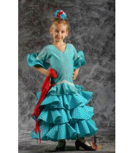 girl flamenco dresses 2019 - Roal - Flamenca dress Estepona Polka dots