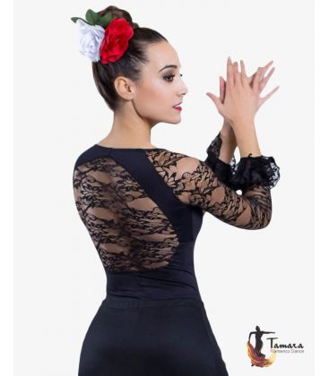 maillots bodys flamenco tops for woman - - Fabiola Body - Lace and flounces