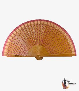 Hand painted fan (20 cm) - Polka-dots in custom colour