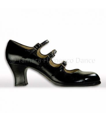 flamenco shoes professional for woman - Begoña Cervera - flamenco shoe begoña cervera 3 correas black