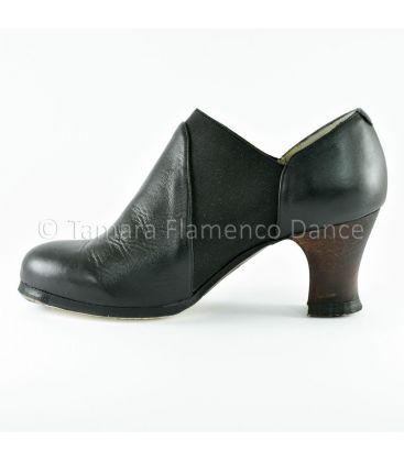 flamenco shoes professional for woman - Begoña Cervera - arraigo black leather interior