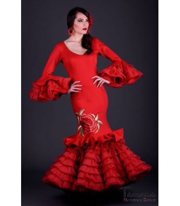flamenco dresses woman in stock immediate shipping - Roal - Alhambra Embroidery - Size 38 (Burgundy)