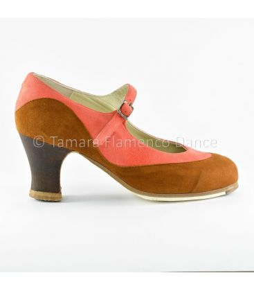 flamenco shoes professional for woman - Begoña Cervera - Binome special suede side
