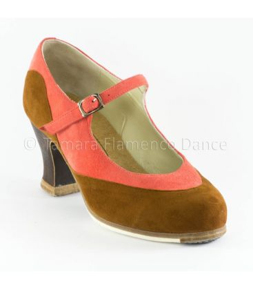 flamenco shoes professional for woman - Begoña Cervera - Binome special suede front