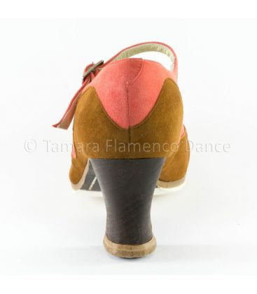 flamenco shoes professional for woman - Begoña Cervera - Binome special suede back