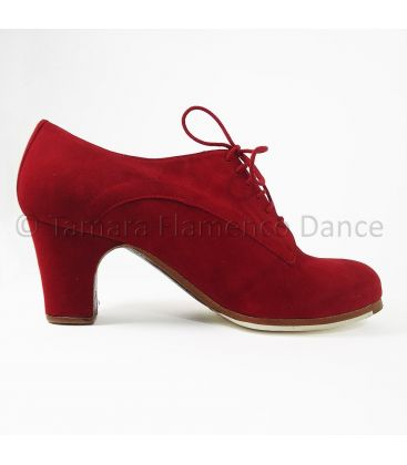 flamenco shoes professional for woman - Begoña Cervera - Blucher red suede