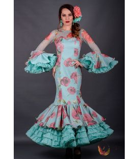 Flamenca dress Dulce Aquamarine