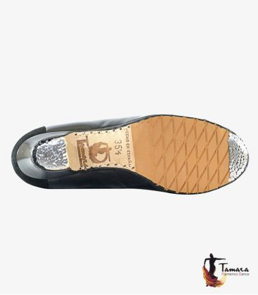 tamara flamenco brand - - Macarena - Design 1 professional flamenco shoe black suede and snake