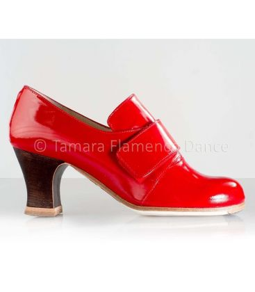 flamenco shoes professional for woman - Begoña Cervera - Goya red patent leather