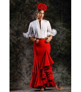 Jupe flamenco Taille 40 - Salinas rouge