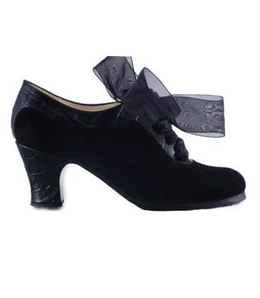 flamenco shoes professional for woman - Begoña Cervera - Ingles coco black suede