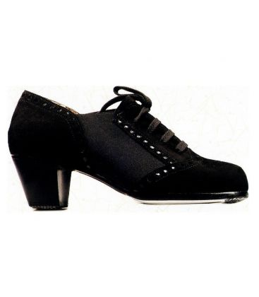 flamenco shoes for man - Begoña Cervera - Picado black suede