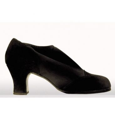 flamenco shoes professional for woman - Begoña Cervera - Suave for woman black suede