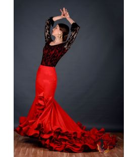 tailed gown bata de cola - Faldas de flamenco a medida / Custom flamenco skirts - Tail skirt - Professional 5 flounces