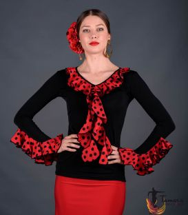 Tarifa Polka dots T-shirt - Viscose and koshivo