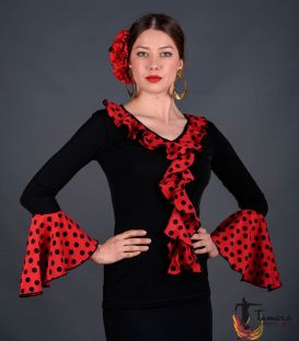 Carola Polka dots T-shirt - Viscose and koshivo