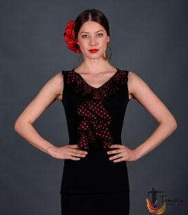maillots bodys flamenco tops for woman - - Tango with polka dots T-shirt - Viscose