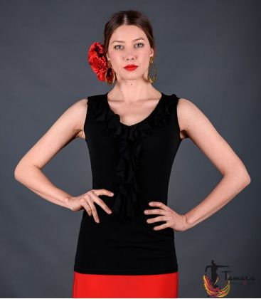 maillots bodys flamenco tops for woman - - Tango T-shirt - Viscose