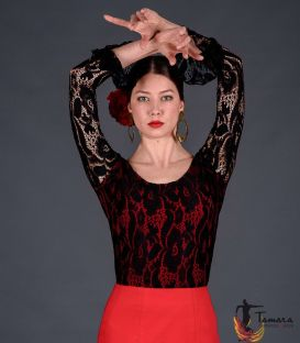 Alcazar T-shirt - Viscose and lace