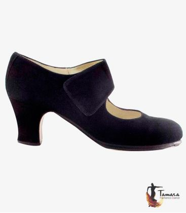 flamenco shoes professional for woman - Begoña Cervera - Velcro - Begoña Cervera leather suede