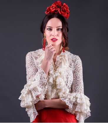 blouses and flamenco skirts in stock immediate shipment - Roal - Coral ( blouse) Lace