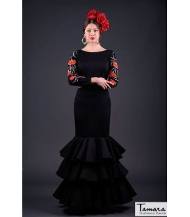 flamenco dresses woman in stock immediate shipping - Roal - Size 38 - Silvia Embroidery Black (Same photo)