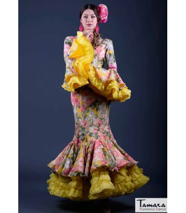 flamenco dresses woman in stock immediate shipping - Roal - Size 38 - Jade Yellow (Same as photo)