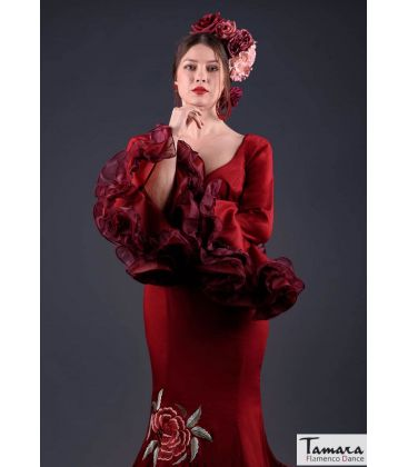 flamenco dresses woman in stock immediate shipping - Roal - Size 38 - Alhambra Embroidery (Burgundy)