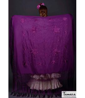 Manila Spring Shawl - Purple Embroidered
