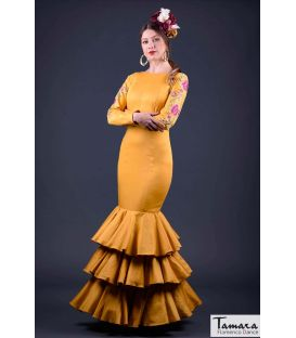 flamenco dresses woman in stock immediate shipping - Roal - Size 40 - Silvia Embroidery Gold (Same photo)