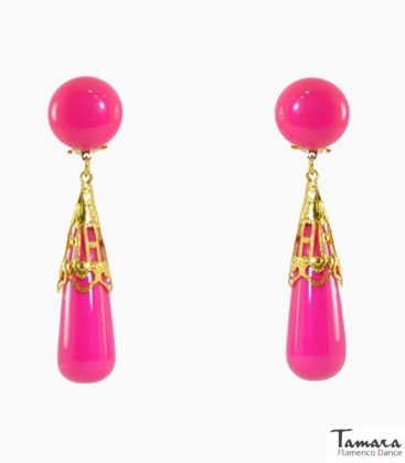 flamenco earrings - - Flamenco Earrings - Coral wrought