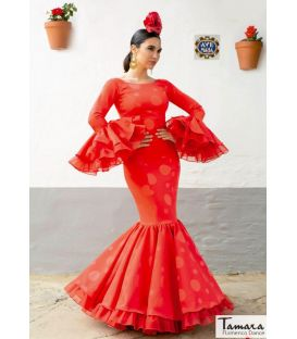 woman flamenco dresses 2020 by order - Aires de Feria - Flamenco dress Juana Polka dots