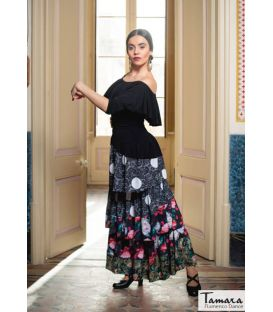 Patch Flamenco skirt - Elastic knit