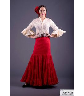 Jupe flamenca Taille 44 - Candil Rouge dentelle