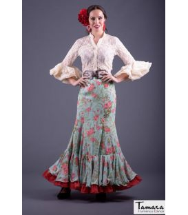blouses and flamenco skirts in stock immediate shipment - Roal - Flamenca skirt Size 38 - Arenal verde agua