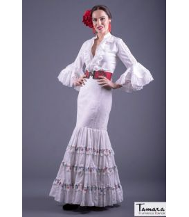 flamenco dresses 2019 - Roal - Flamenca skirt Size 40 - Albahaca white