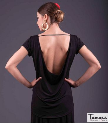 maillots bodys flamenco tops for woman - - Flamenco t-shirt Dance is to dream - Gold
