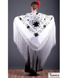 Manila Spring Shawl - Black Embroidered