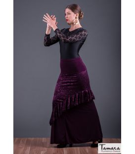Flamenco skirt Maya - Elastic knit and lace