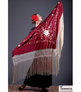 Roma Shawl - Multicolor Red Embroidered