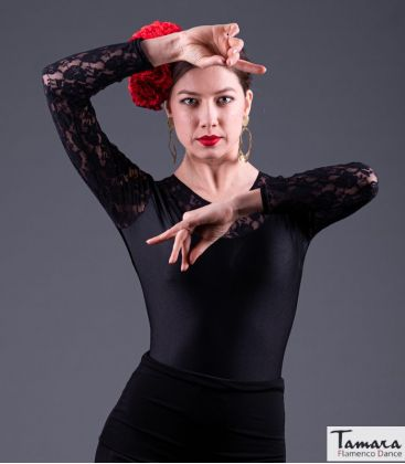 maillots bodys flamenco tops for woman - - Tiento Body - Lycra and lace