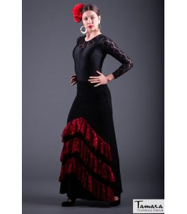 Flamenco skirt Saray - Elastic point and lace