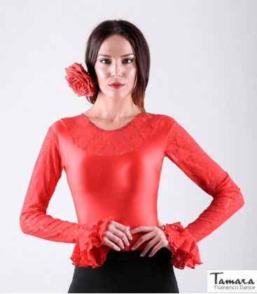 maillots bodys flamenco tops for woman - - Tiento Body - Lace and flounces