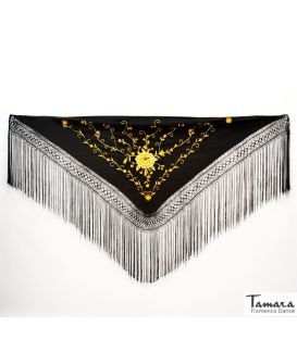Roma Shawl - Gold Embroidered