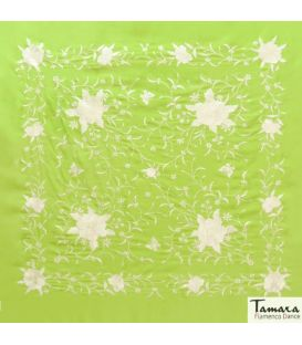 shawl 1 only colour - - Manila Spring Shawl - Ivory Embroidered