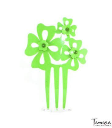 flamenco combs - - Flamenco combs with flowers - Acetate 14 cm ( Various models inside)