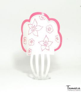 Comb Hand-painted Flowers - Acetate 19 cm
